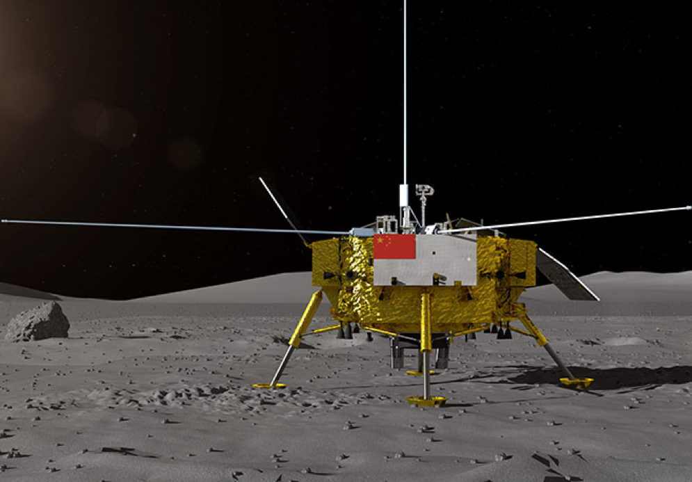 After touchdown the Chang'e-4 lander, which weighs around 2,400 pounds, will deploy the 300-pound rover to start exploring the Von Karman Crater. The lander and rover carry instruments including cameras, radar and a system for studying the lunar wind. An onboard experiment will also test the ability of seeds and silkworm eggs, stored within a climate-controlled biosphere, to survive on the moon. The six-wheel rover is expected to function for three months.