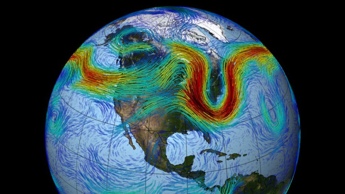 The Northern Hemisphere's polar jet stream is a fast-moving belt of westerly winds,